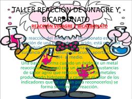 TALLER REACCIÓN DE VINAGRE Y BICARBONATO