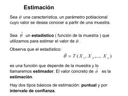 Estimación puntual - CFIE de Valladolid
