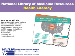 Informarle sobre Biblioteca Nacional de Medicina de los recursos en