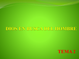 DIOS EN BUSCA DEL HOMBRE