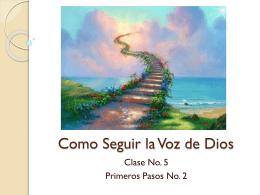 Como Seguir la Voz de Dios