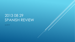 2013 08 29 Spanish Review