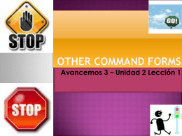 Other command forms