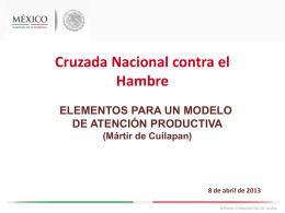 Elementos para un Modelo de Atención Productiva (M