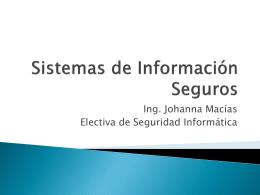 Sistemas de Información Seguros