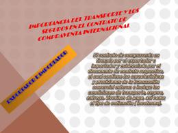 Importancia del transporte y los seguros en el contrato de