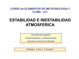 Estabilidad Atmosférica - Departamento de Ciencias de la Atmósfera