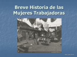 Historia de las Mujeres Trabajadoras