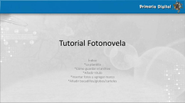 Tutorial Fotonovela