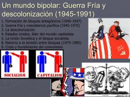 mundo bipolar y descolonización
