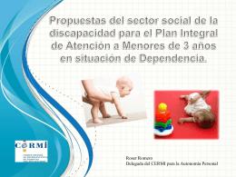 Propuestas del sector social de la discapacidad para