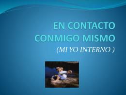 EN CONTACTO CONMIGO MISMO - Colegio Gabriela Brimmer