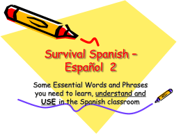 Survival Spanish - OCPS TeacherPress