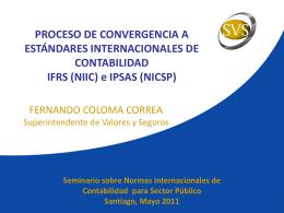 Proceso de convergencia a estándares internacionales
