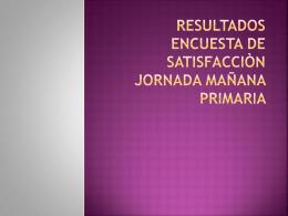RESULTADOS ENCUESTA DE SATISFACCIÒN JORNADA MAÑANA