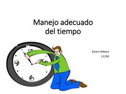 3. Manejo adecuado del tiempo