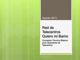 RED DE TELECENTROS QUIERO MI BARRIO