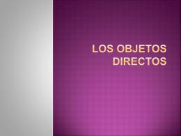 Los objectos directos