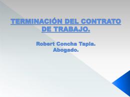 SUSPENSION, TERMINACIÓN DEL CONTRATO DE TRABAJO Y