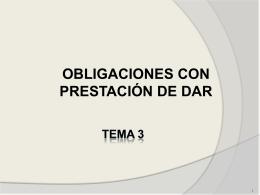 OBLIGACIONES DE DAR BIENES NO FUNGIBLES O INCIERTOS
