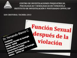 Función Sexual después de la Violación