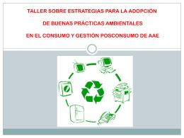 taller sobre estrategias para adopcion de buenas practicas