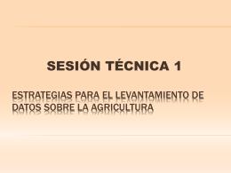 Estrategias para el levantamiento de datos sobre la agricultura