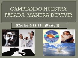 CAMBIANDO NUESTRA PASADA MANERA DE VIVIR