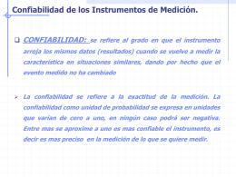 Confiabilidad de los Instrumentos de Medición.