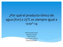 ¿Por qué el producto iónico de agua (Kw) a 25ºC es siempre igual a