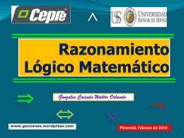 lógico matemática – cepre