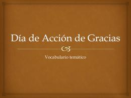 Thanksgiving Accion de Gracias