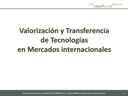 Presentacion Corporativa UNIVALUE
