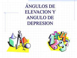 angulo de alevacion y depresion