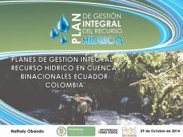 7. presentacion pgirh colombia 2014