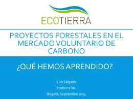 Proyectos forestales en El mercado voluntario de Carbono ¿Que