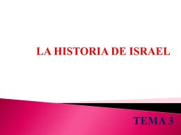 LA HISTORIA DE ISRAEL - Grupo Educativo Coas