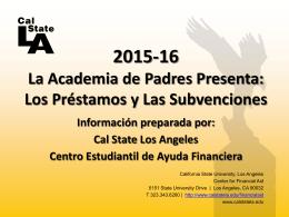 Préstamos y Las Subvenciones - California State University, Los