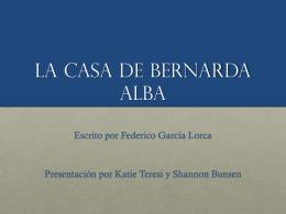 """""""La casa de Bernarda Alva"""" Federico García Lorca"""