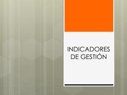 Qué son los indicadores de gestión?