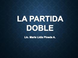 la partida doble - Profesora María Lidia Pineda