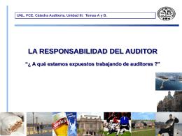 Responsabilidad del auditor - Facultad de Ciencias Económicas