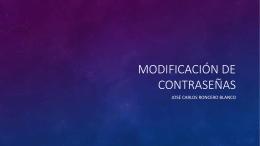 Modificación de contraseñas en Windows y GNU/Linux