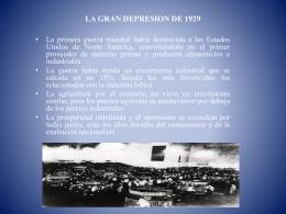 LA GRAN DEPRESION DE 1929