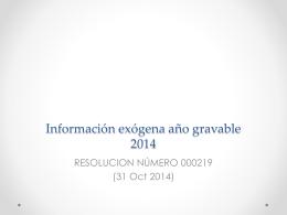 Información exógena año gravable 2014