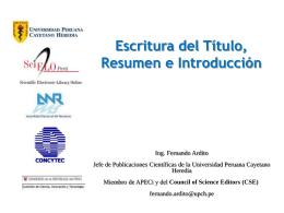 Redacción del Título, Resumen e Introducción