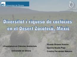 Diversidad y riqueza de cactáceas en tres sitios del polígono de