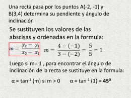 Una recta pasa por los puntos A(-2,
