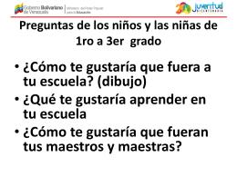 Preguntas de los niños y las niñas de 1ro a 3er grado