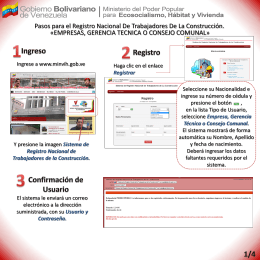 Registro de Empresa/Gerencia Técnica/Consejo Comunal